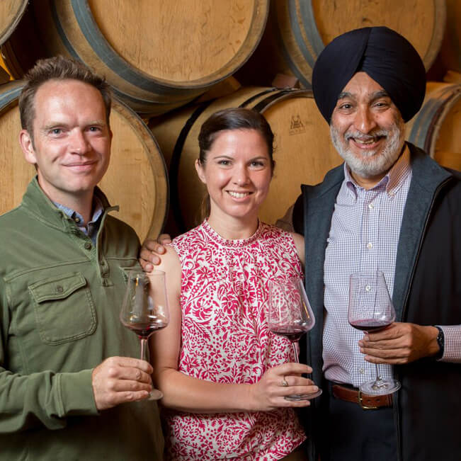 Chris and Andrea Mullineux and Mr Singh